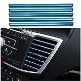 10 Pezzi Strisce Decorative per Bocchetta Dell'aria Dell'auto, a forma di U, Strisce interna dell'auto, Uscita Della Griglia di Ventilazione Cromata Strisce