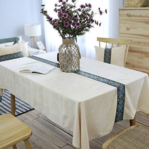 YZT QUEEN Rechthoekig tafelkleed, dik dubbelzijdig pluche tafelkleed, effen kleur geborduurd tafelkleed, tafeldecoratie, huisdecoratie, restaurant, party bruiloft