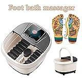 Masseur de bain spa pour pieds avec chaleur, Rouleau de shiatsu motorisé pour spa massant le point d'acupuncture, bassin de mousse chauffante entièrement automatique, durée et température ajustables