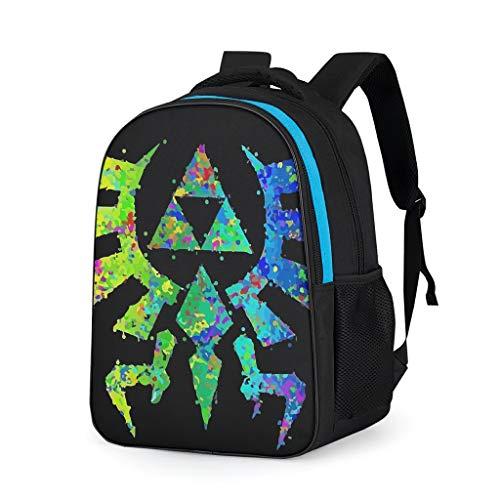 RQPPY Bunt-Zelda Moderner Reiserucksack Kindergartentasche Jugendliche Wandern Taschen Anzug für Jugendliche Grey OneSize