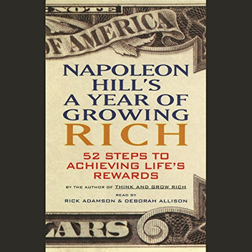 Napoleon Hill's A Year of Growing Rich audiobook cover art