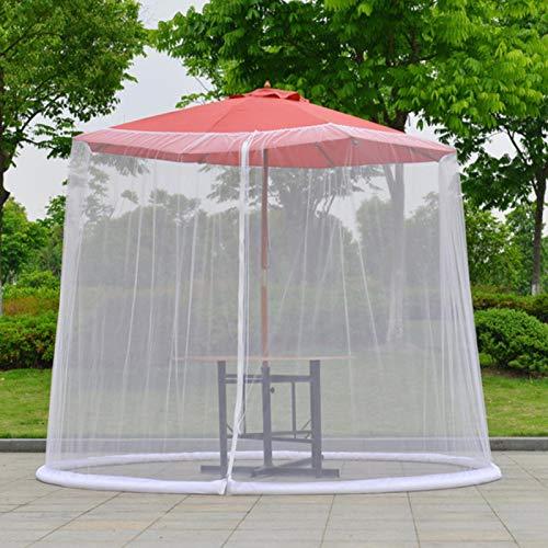 Anwangda Paraguas de jardín al aire libre ultra grande mosquitero, cubierta de mosquitero de mesa, cubierta de malla de plagas para camping, picnic, viajes (blanco)