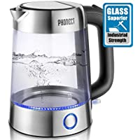 Phonect 1500W Glass Electric Tea Kettle with LED Indicator Lights