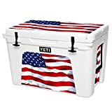 MightySkins Skin Compatible with YETI Tundra 105 qt Cooler - American Flag | Protective, Durable, and Unique Vinyl Decal wrap Cover | Easy to Apply, Remove, and Change Styles | Made in The USA