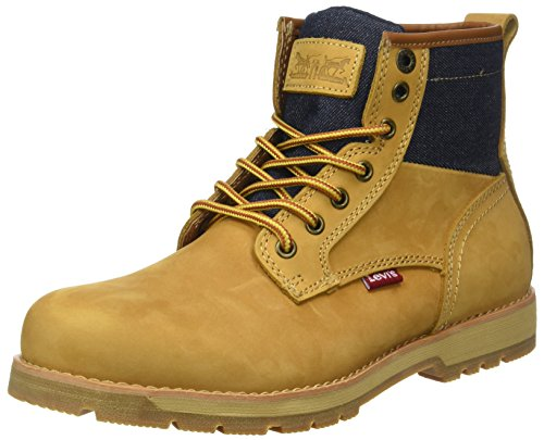 Levi's Logan, Botines Hombre, Amarillo (Medium Yellow), 45 EU