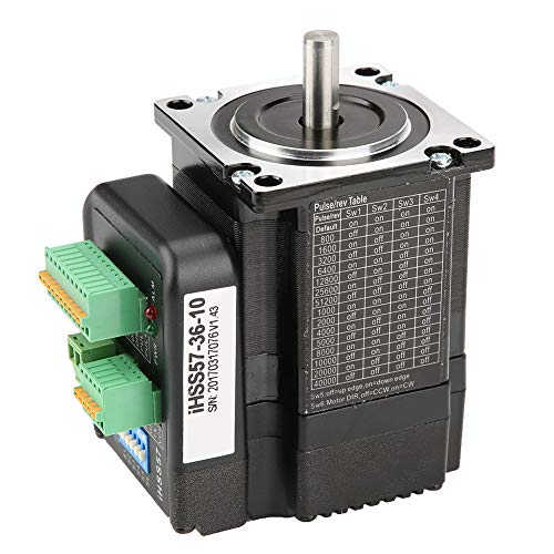 Nema 23 Stepper Motor Stepper Motor IHSS57-36-10, DC36V Motor Driver Kit High Torque 1Nm Hybrid Closed Loop Stepper Servo for CNC, 3D Printer Printing, Textile Machines