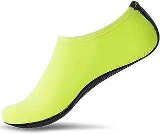JACKSHIBO Men Women Barefoot Water Skin Shoes Lightweight Aqua Socks for Beach Swim Surf Yoga Swim Exercise