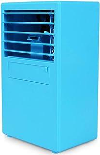 QHGao Ventilador De Aire Acondicionado Cuadrado,Evaporación De Aire por Evaporación Personal,Ventilador Sin Hojas Ventilador De Escritorio Ultra Silencioso Humidificador De Circulación,Blue