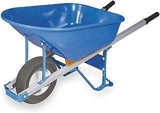 Wheelbarrow, Steel, 6 Cu. Ft, Flat Free
