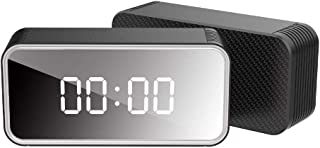 Sliveal Cámara Oculta Reloj de Mesa HD4K WiFi Red Reloj electrónico Cámara 160 Grados Gran Angular Super visión Nocturna Soporte 128 GB Seguridad para el hogar Cámara de vigilancia Very Well
