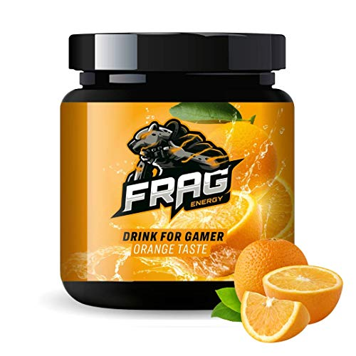 GAMING BOOSTER von Frag Energy - Orange - Energy Drink für Gamer, Gaming Booster Pulver, eSports Drink Pulver steigert Ausdauer + Konzentration + Reaktion - für Gamer, zum Lernen oder bei der Arbeit