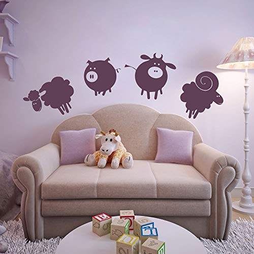 stickers muraux planetes Farmyard Animals Set Childrens Nursery And Baby