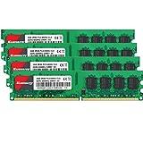 8GB Kit (2GBX4) DDR2 800 Udimm RAM, Kuesuny PC2-6400/PC2-6400U 1.8V CL6 240 Pin Non-ECC Unbuffered Desktop Memory Modules