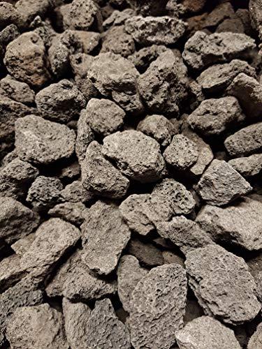 25 kg (Vergleichspreis 9,80 € bei 20 Litern) schwarzer Lava Mulch 16-32 mm - Pflanzgranulat Schneckenschutz Lavastein Lavamulch Aquarium Dachbegrünung Lavagranulat - LIEFERUNG KOSTENLOS