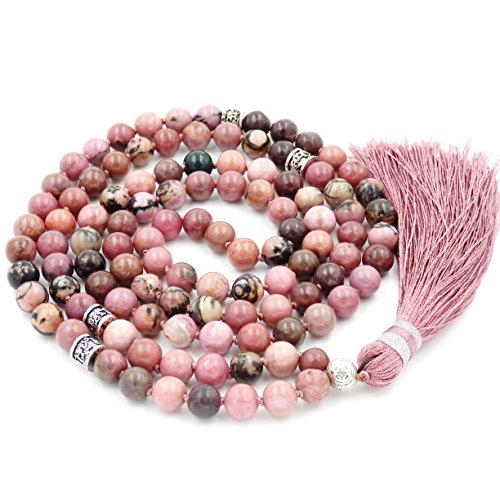 Fukugems 108 Mala Budista Collar Mujer Hombres, Mala Brazalete, meditación Budista Collar