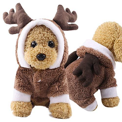 Red, M Culater Vestiti del Cane Vestiti Caldi Cucciolo Vestito Pet Cappotto Camicia con Stampa Cane Stampa Gilet Cucciolo Cappotto Animali Domestici Gatto Cappotto Caldo