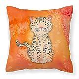 Caroline tesoros del bb7396pw1818leopardo Watercolor al aire libre lienzo almohada, multicolor