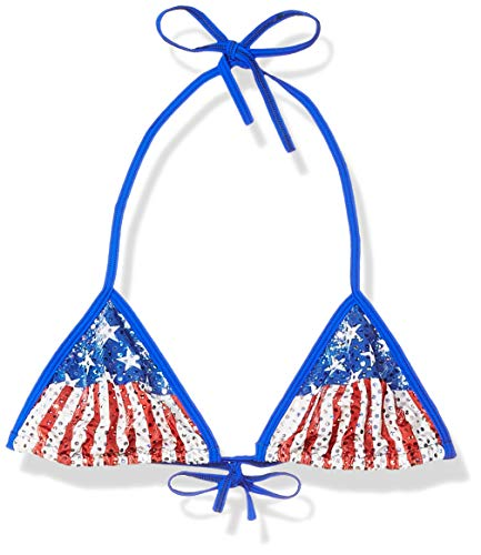 BODYZONE Women's Patriotic Tri Top, Faded Glory Print, One Size