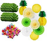 QUANAGOL Hawaiian Party Decorations Luau Tropical Pineapple Theme...
