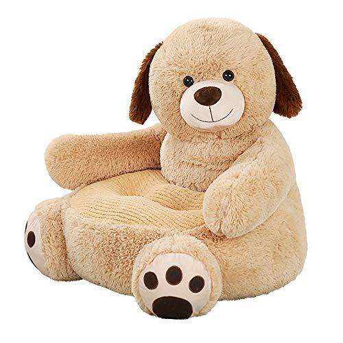 Zinsale Kinder Plüschsessel Baby Sofas fürs Kinderzimmer Kuscheltier Ausgestopftes Tier Kindersessel Lesesofa Weiches Sitzkissen Plüschtiere Kleinkindmöbel (Hund)