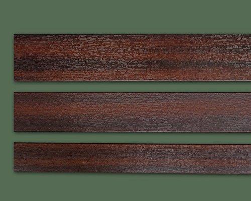 Fensterleiste Mahagoni 30 mm breit 6m lang Flachleiste Abdeckleiste Dekor Leiste farbig