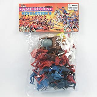 35 piece Revolutionary War Plastic Army Men 65mm Soldier Figure Toy Set by Americana Souvenirs