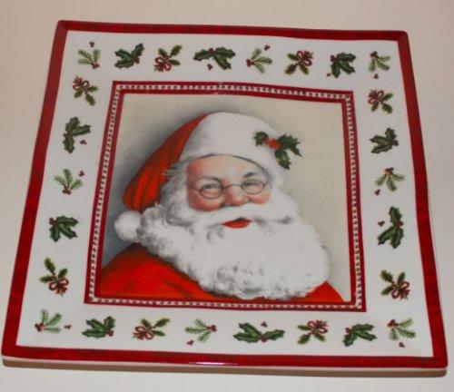 IHR POT 483000 - Plato cuadrado de porcelana (27 cm), diseño de Papá Noel