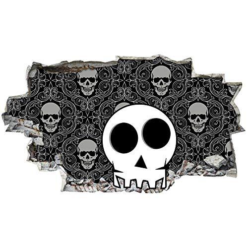 Pegatinas de paredDormitorio Skeleton Wall Stickers Dormitorio Niñas Niños Sala de estar