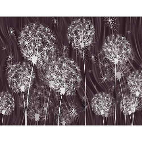 Fototapete Pusteblumen 352 x 250 cm Vlies Tapeten Wandtapete XXL Moderne Wanddeko Wohnzimmer Schlafzimmer Büro Flur Violett 9094011b