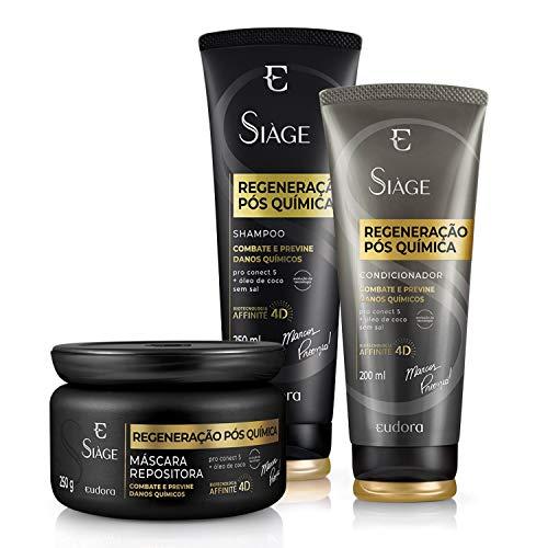Kit Siàge Regeneração Pós Química Shampoo + Eudora