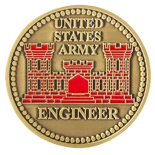 United States Army Engineer Branch Corps Castle Challenge Coin