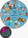 Toy Story - Decoración para tarta personalizable en lámina comestible premium para glaseado de 19 cm, decoración de fiesta de cumpleaños cualquier mensaje