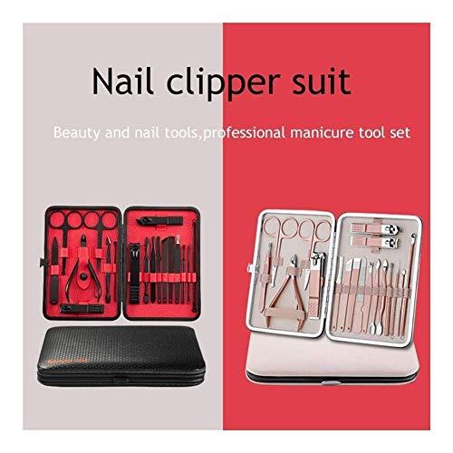 Accessoires Ongles Outils Kits Set de Cleaner Ear Nail Clipper Clipper Toenail Peigne pincettes en Acier Inoxydable Pince Catcher BBGSFDC (Couleur: Matt Silver, Taille: 17,6 * 13.2 * 3.2cm)