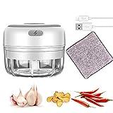 Electric Mini Garlic Chopper, Handheld Wireless Mincer, baby food grinder, Portable Cordless Food processor, Powerful...