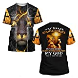 Jesus Lion Way Maker Miracle Worker Promise Keeper My God 3D All Over Printed For Men Women, Fathers day Gifts,Christmas Gifts,Christian Jesus Designs Hoodie Tshirt SweatShirt All Size