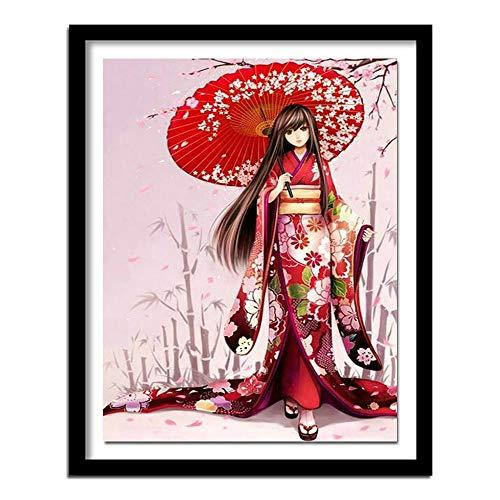 5d diamant schilderij kits volledige boor DIY Kimono meisje 40x50cm Geen frame diamant schilderij kunst sets voor volwassenen home decor