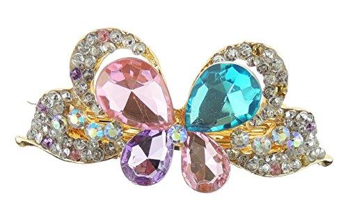 Mesdames 7 cm Barrette à cheveux Papillon en cristal