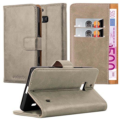 Cadorabo Hülle für Nokia Lumia 929/930 in Cappuccino BRAUN – Handyhülle mit Magnetverschluss, Standfunktion & Kartenfach – Hülle Cover Schutzhülle Etui Tasche Book Klapp Style