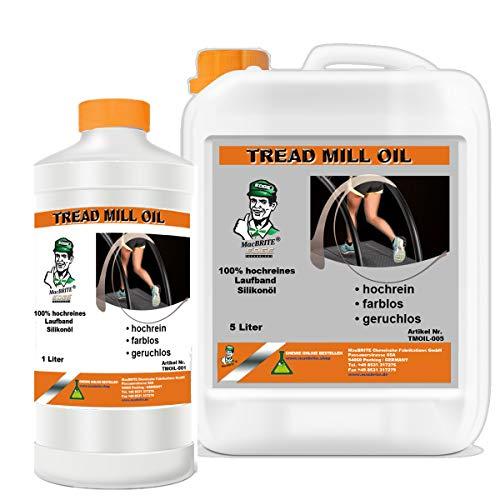 MacBRITE 100% reines umweltfreundliches Laufbandöl Silikonöl Treadmill Oil - 5 L