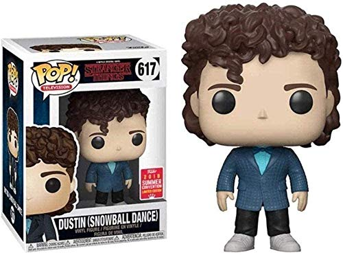 BINGFENGBINGFENG POP CQ is popular! TV: Stranger Things Dustin Snowball Summer Dance Action Character-PVC Action Model-Home Decoration-Car Decoration Size 10cm