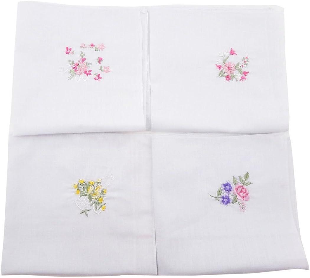 OWM Handkerchief Dozen Floral Ladies Cotton Handkerc OFFer Max 47% OFF Embroidered