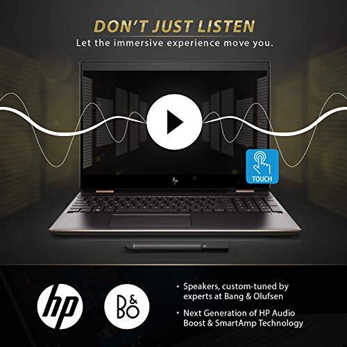 Newest HP Spectre x360 15t Touch AMOLED 10th Gen Intel i7-10510U with Pen, 3 Years McAfee Internet Security, Windows 10 Professional, HP Warranty, 2-in-1 Laptop PC (16GB, 1TB SSD, Dark Ash) Maryland