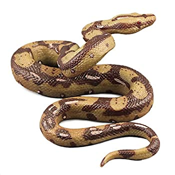 Mokylor Realistic Fake Rubber Snake Scary Simulation Snake Fake Snakes Prank Stuff for Garden Props to Scare Birds,Halloween Decoration,5.9  x4.3  x2.3