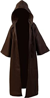 Kids Halloween Tunic Hooded Cloak for Jedi Robe Costume Black and Brown