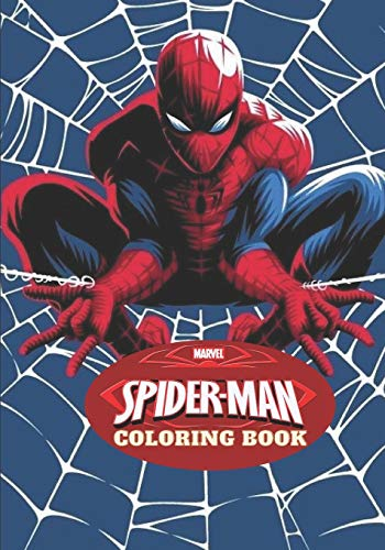 Marvel Spiderman Coloring Book: 50 Naruto Illustrations / Great Coloring Books for Adults and Any Fan of Spiderman