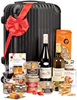 """Ducs de Gascogne - Coffret gourmand """"Escapade Savoureuse"""" - comprend 13 produits dont un foie gras entier, un vin rouge..."""