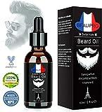 APICI Huile Barbe Bio,Huile Hydratante pour Barbe - Favorise la Pousse de la Barbe - Contient de'Huile d'aloe vera, de Jojoba, d'Argan d'vitamine E- Soin pour Barbe - Bois de Santal