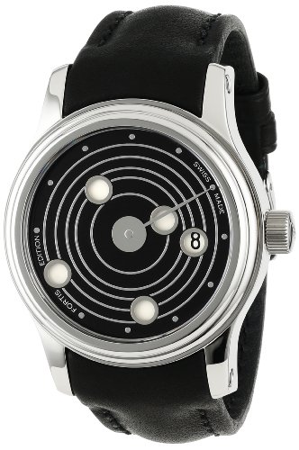 Fortis Men's 677.20.31 L.01 B-47 'Mysterious Planets' Stainless Steel Automatic Watch with Leather Band