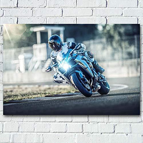 Motocicleta de Carreras_Puzzle Adulto 1000 Piezas_Se Puede Usar como un Juego de Rompecabezas o Pelota de estrés para Adultos_50x75cm