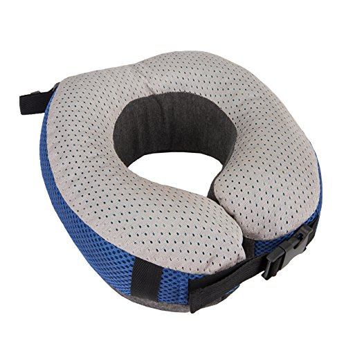 Travelon Cooling Gel Memory Foam Pillow, Cobalt/Gray, One Size